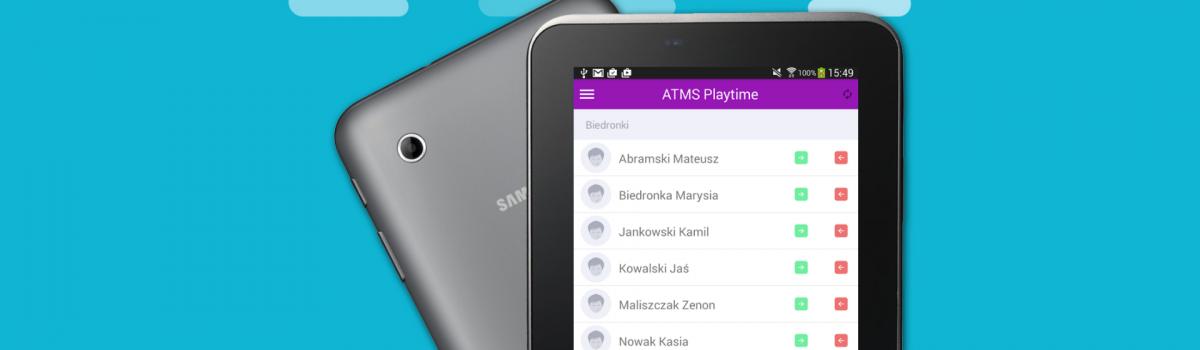 ATMS Playtime – aktualizacja aplikacji mobilnej dorejestracji obecności